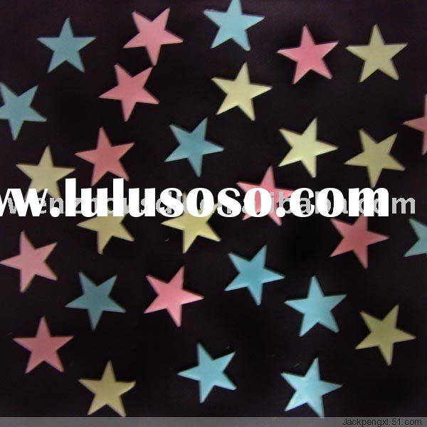 100 X Multi-Color Glow in the dark small star