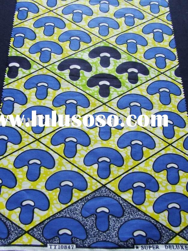100% cotton batik prints fabric/african cotton real wax pritned textile/vlisco wax fabric(R7004)