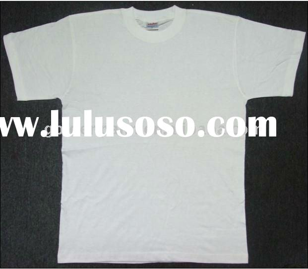 100% cotton plain round neck t shirt
