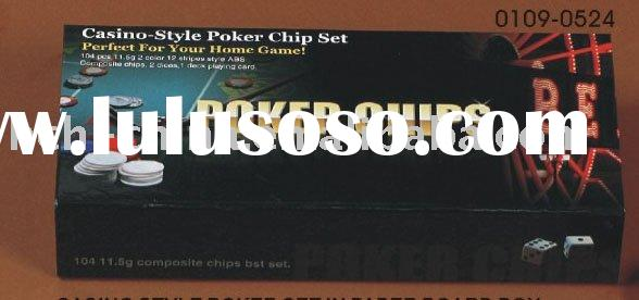 100 pc poker chip set In Paper Box
