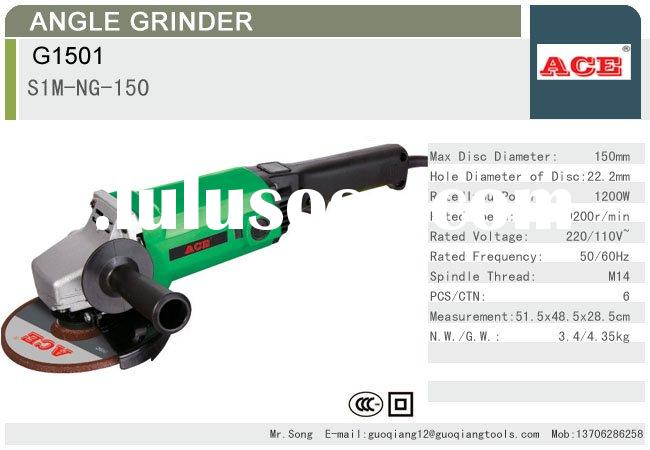 1200W 150mm Angle Grinder Power Tools with CCC certificate