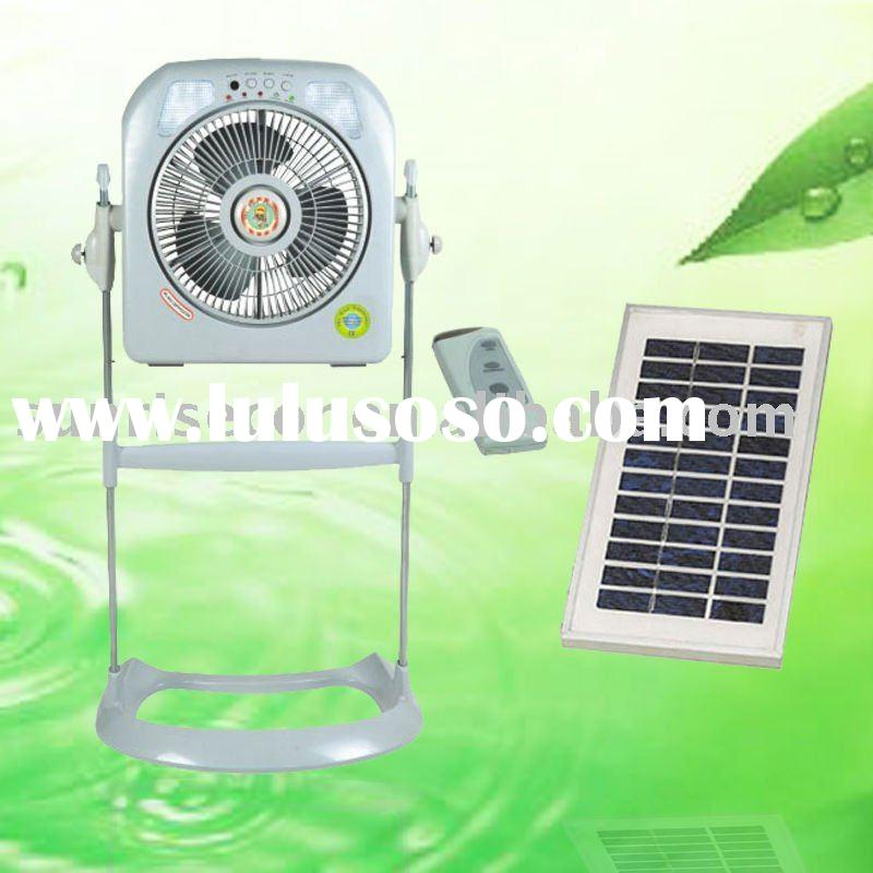 "12"" emergency solar fan with remote control ,stand fan, new energy"