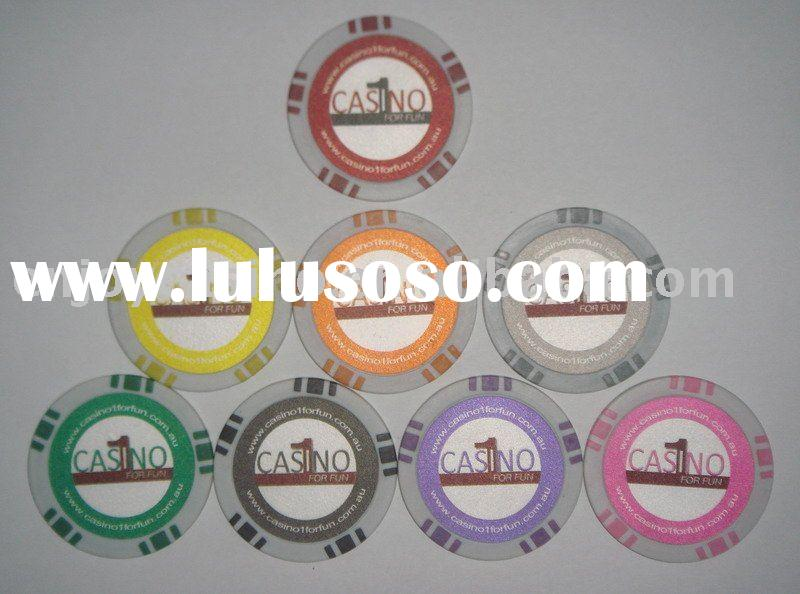 12g ABS casino professional customized sticker poker chip
