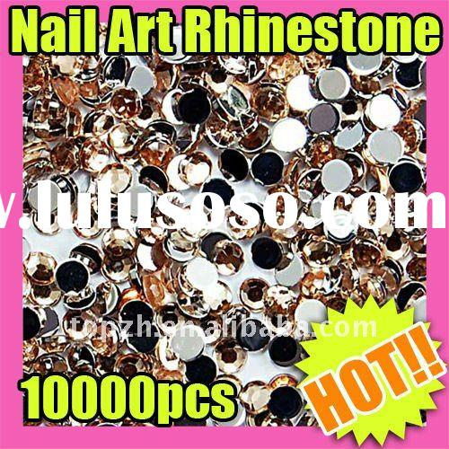 150 Fast Shipping Wholesales Price 10000 2mm Round Glitter Shinny Rhinestone Nail Art