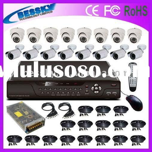 16CH H.264 Compression wireless security camera system