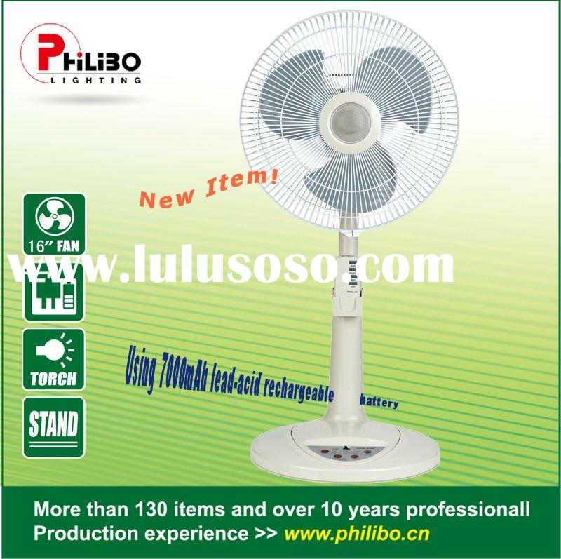 "16"" Rechargeable Stand Fan With Remote control"