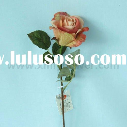 "17"" Artificial Cheap Plastic Flower of Single Rose"
