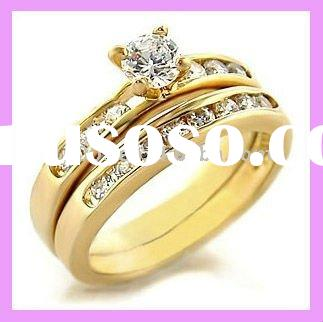 18K Gold Plated CZ Fashion Ring