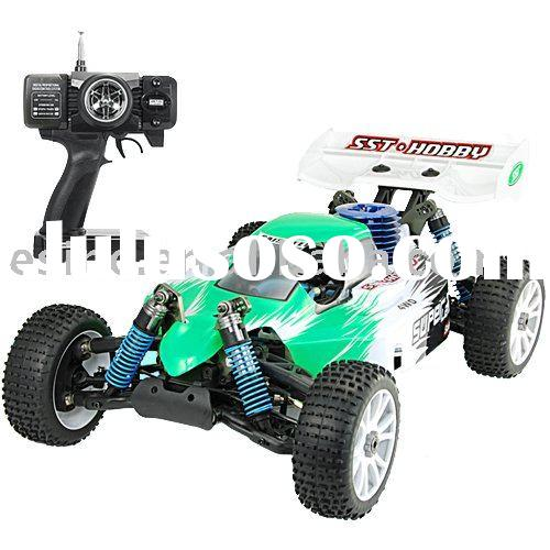 1:8 Scale Nitro Race Car With Pistol Grip Remote Control (220)