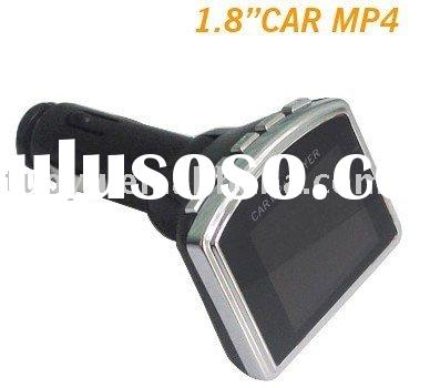 1.8 Screen car mp4 player with fm transmitter