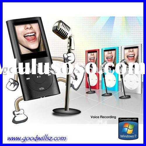 1.8 inch TFT Screen MP3 Player MP4 Player with micro SD(TF) slot Speaker out FM REC
