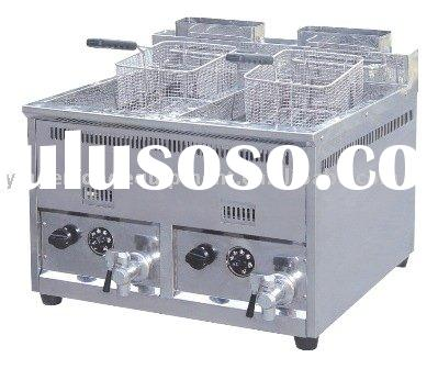 1-Tank 2-Basket Gas Fryer/restaurant equipment/kitchen equipment/hotel equipment