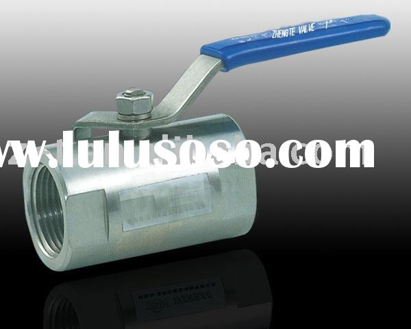 1pc Round body ball valve, screwed end (carbon steel and stainless steel)