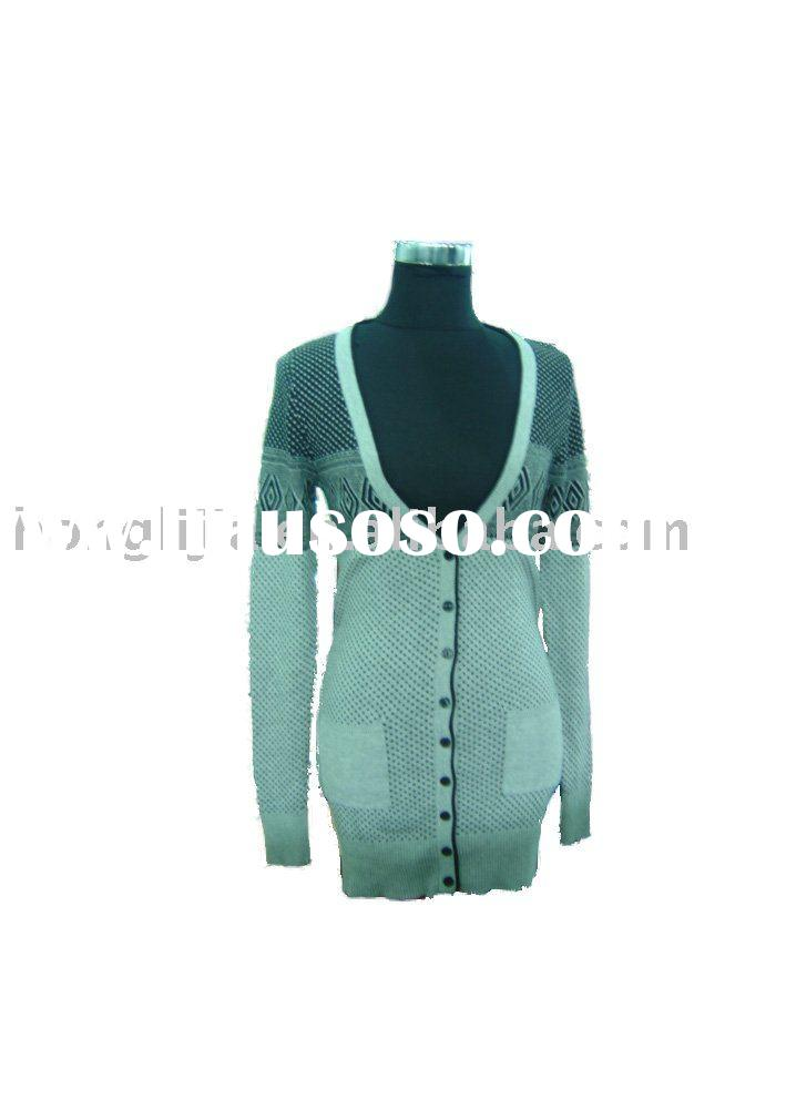2010Winter Women's Fashion 100% Cotton Knitting Cardigan sweater Spanish Style