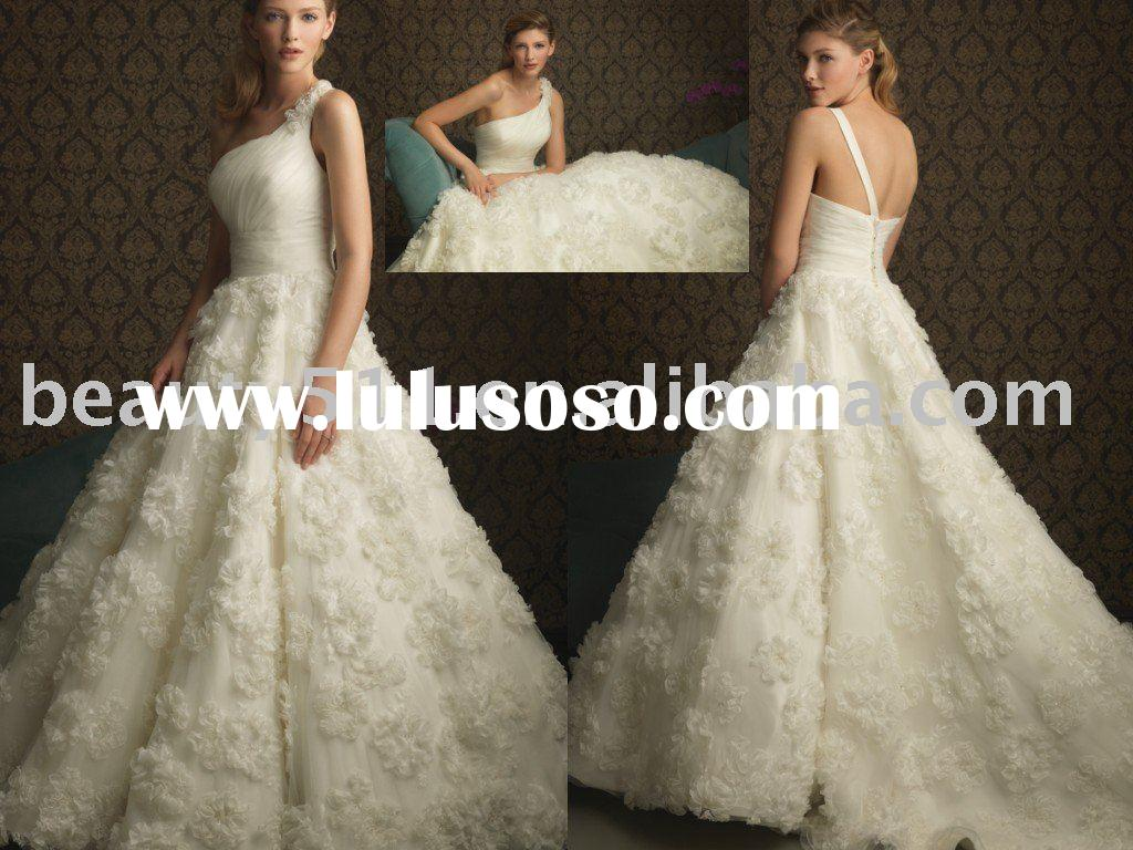 2010 big ball wedding dress bridal dresses bridal gown WDAH0317