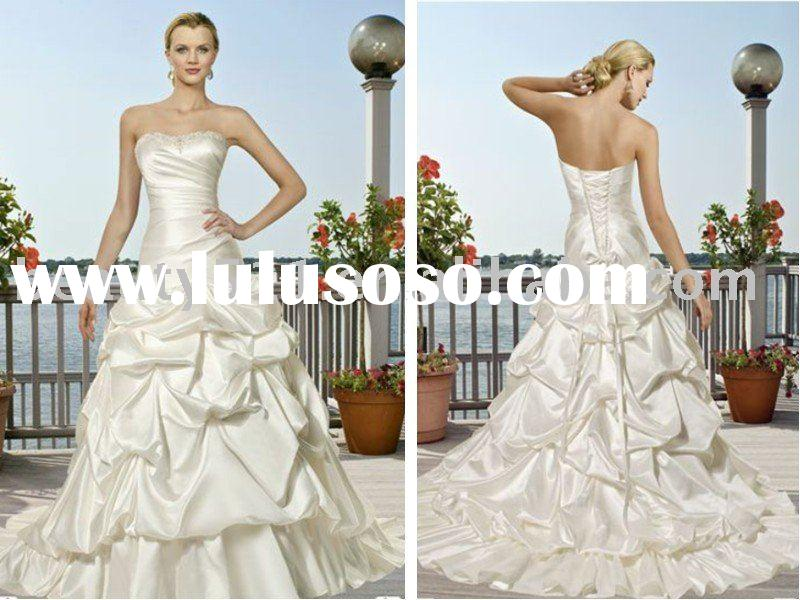 2010 new collection of ruffled wedding dresses, wedding gowns,bridal wearWDAH0044