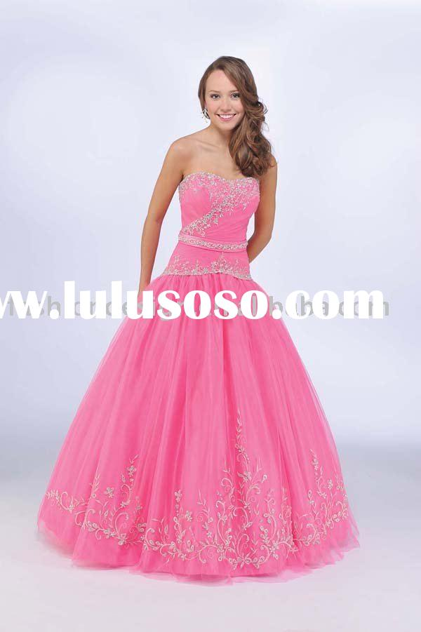 2010 new design pink Quinceanera Ball gowns,bridesmaid prom dresses QB064