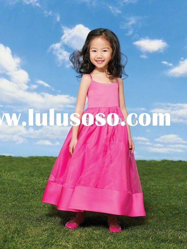 2011 Classic Spaghetti Strap Long Length Flower Girl Dress