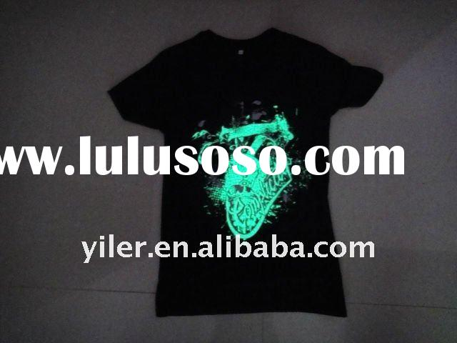 2011 Fashion Magic illuminant T-shirt , glow in the dark and color changing