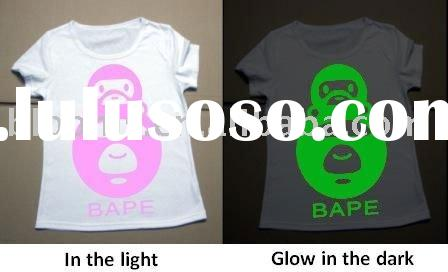 2011 Fashion color changing glow in the dark T-shirt