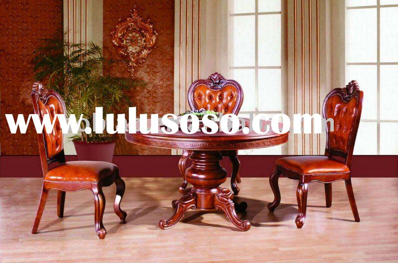 2011 Hot Sale New Classical Solid Wood Round Dining Table and Chair EA019/EB022