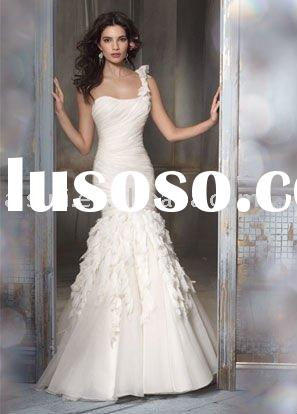 2011 Jim Hjelm JH8108 Strapless Satin A-line Chapel Train Bridal Gown Wedding Dresses