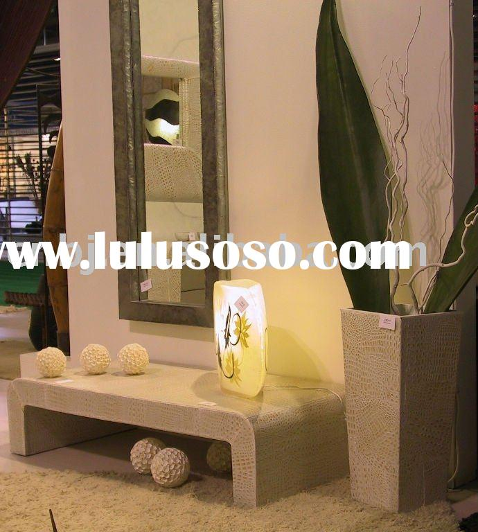 2011 New Style faux leather furniture with mirror /Leather Home Decoration