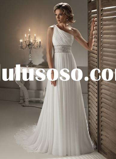 2011 Spring Collection One Shoulder Strap Wedding Dress