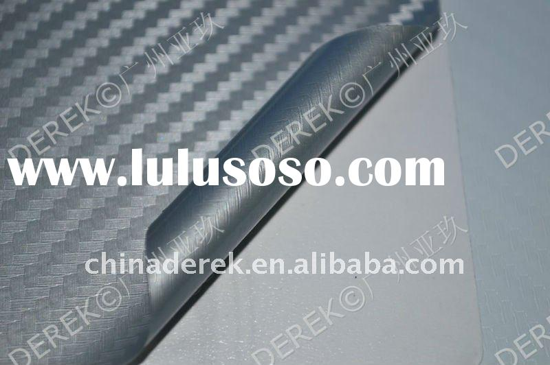 2011 TOP Quality!auto part wrap vinyl film 3D carbon fiber film QD1103 Silver -TR1 1.27mx30m