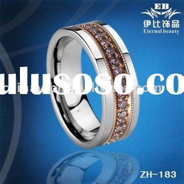 2011 Tungsten Diamond combinated rings, New Design, Fashion rings, Fashion jewelry, Men's ri