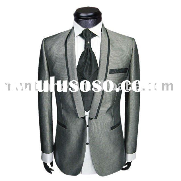 2011 Wedding Tuxedo Suit for Men Men 39s Suit with Wool Shinning Fabric