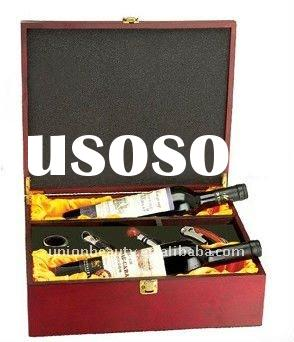 2011 Wooden Wine Box with 4 pcs Wine Accessories