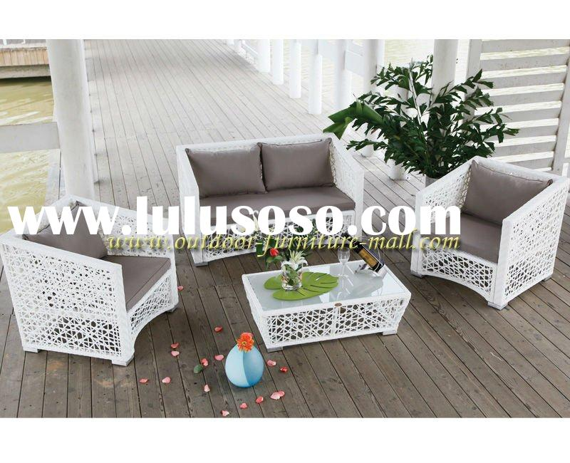2011 best seller outdoor living room luxury rattan sofa set furniture hollow sofa(4 pcs )
