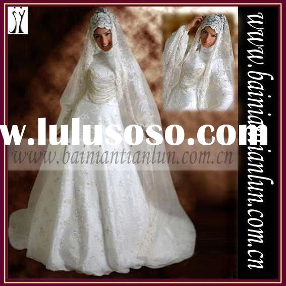 2011 collection new design islamic wedding dress