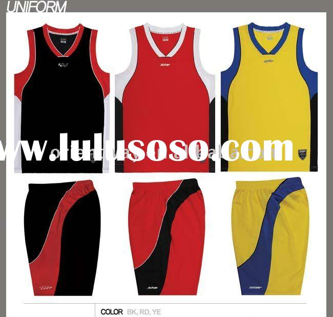 2011 latest red basketball uniform
