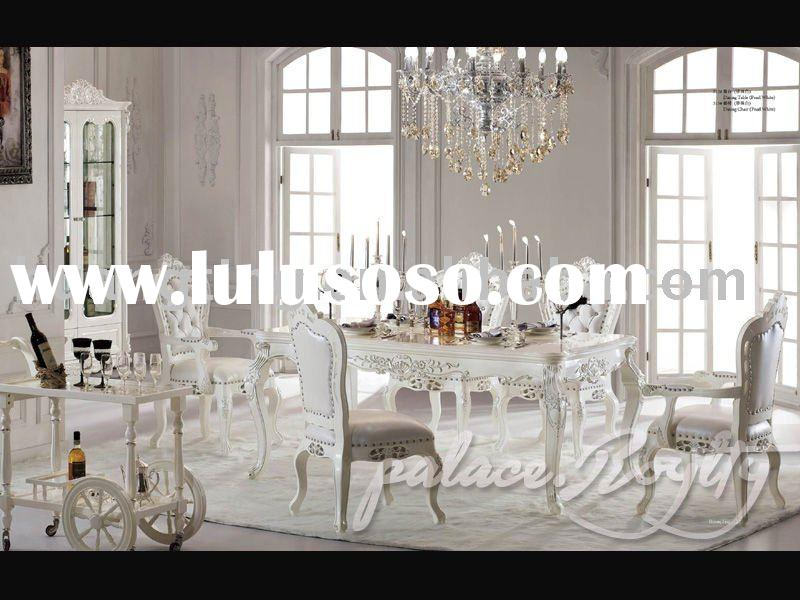 2011 new Villa furniture 6 chairs solid wood dining set dining room furniture classic dining furnitu