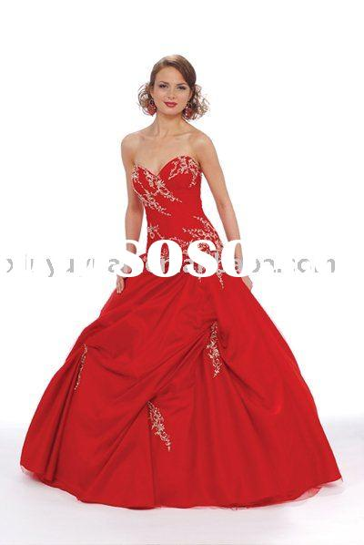 2011 new designer red beading boutique couture quinceanera dresses BOQ-024