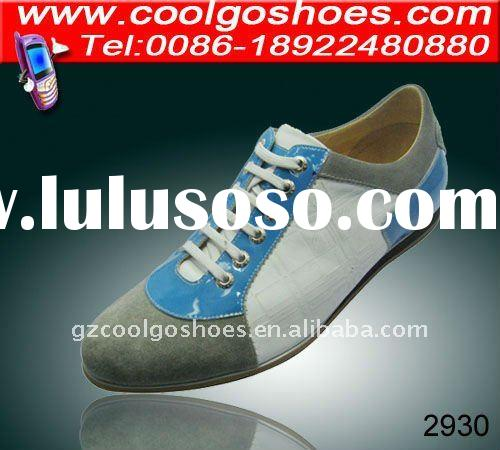 2011 new men fashion casual sports shoes with leather upper and durable outsole