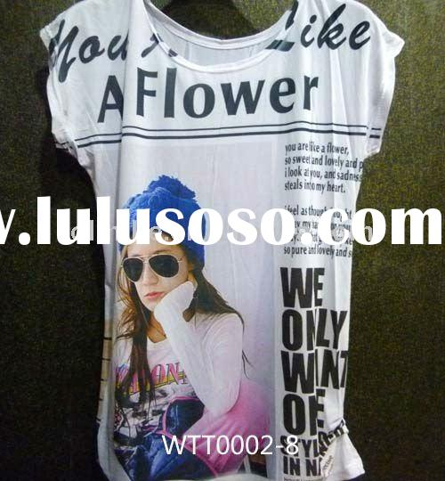 2011 summer fashion women t shirts designs WTT0002