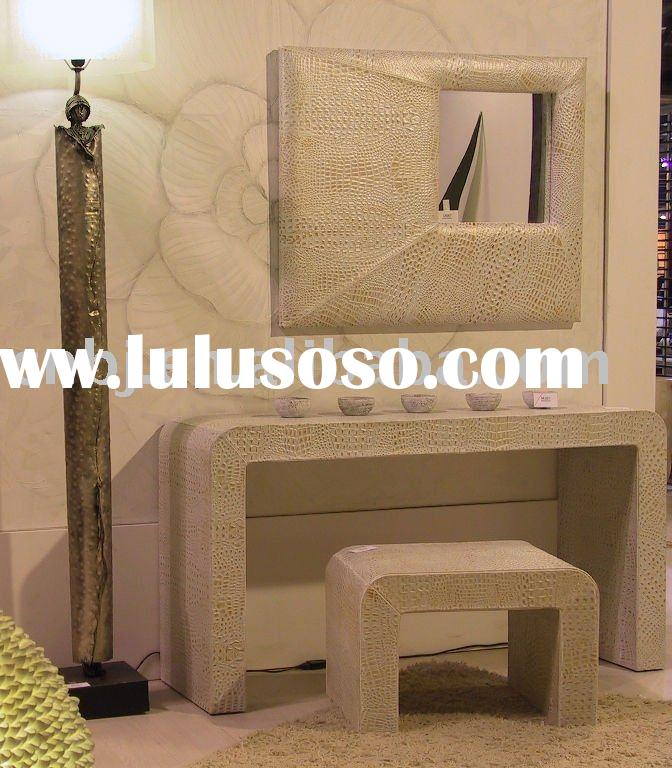 2011 summer new design cream hand made dressing table with mirror