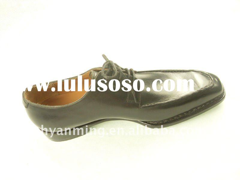 2011 the best Men's black dress leather sole shoes