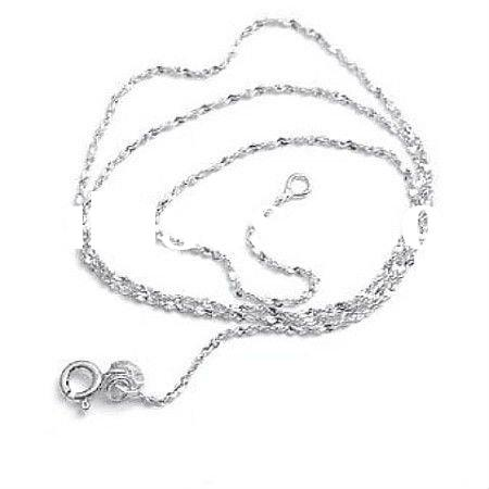 2011 white gold plated sterling silver chain