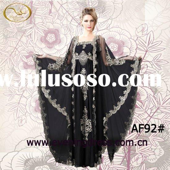 2012 Bat sleeve design high-ending handcraft women's evening dress AF92#