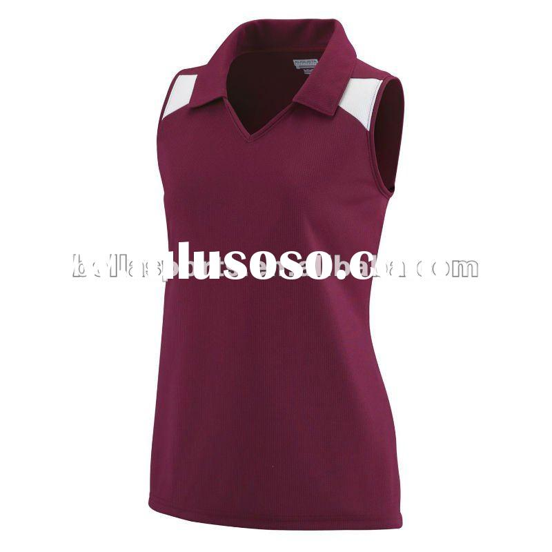 2012 Customized Womens Sleeveless Volleyball Jersey Volleyball Uniform