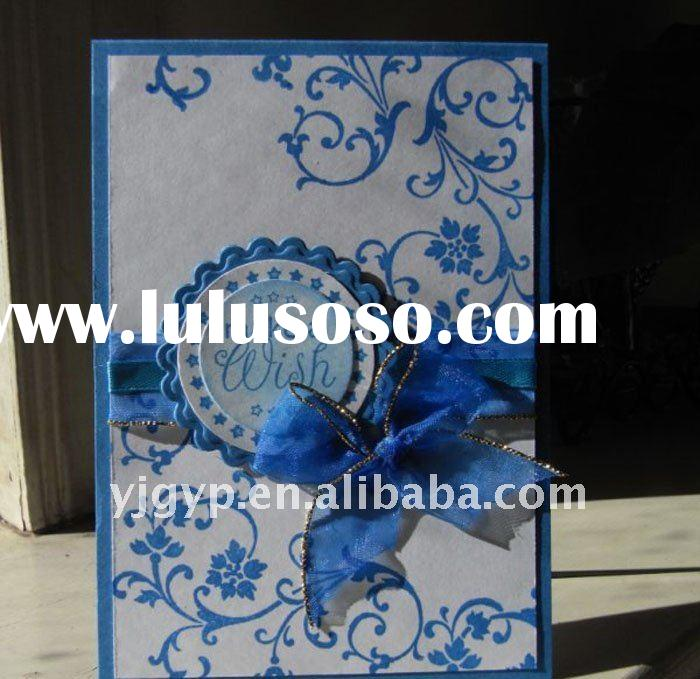 2012 Hot Sale Chinese elegant Art Paper wedding invitation card