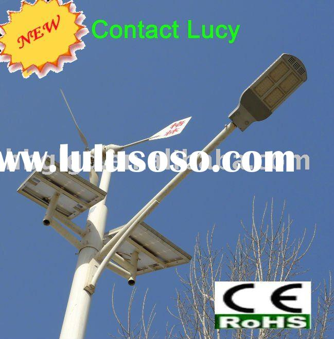 2012 Hot Wind Solar Hybrid High Power LED Street Light System,solar & wind Power Street Lamp Hig