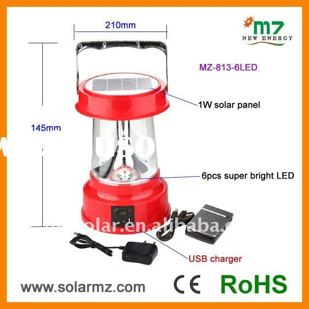 2012 NEW design hot sales rechargeable led camping solar lantern for fishing, working, camping CE,RO