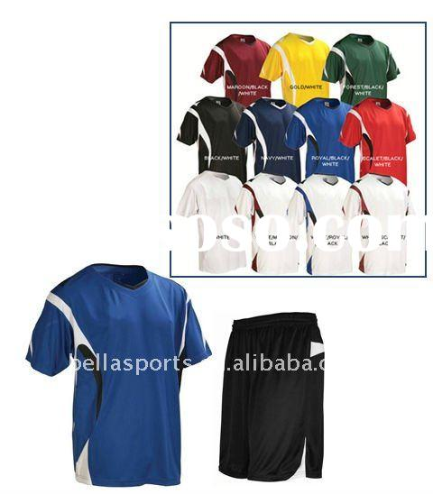 2012 OEM of Men's short sleeve complicated style for club/soccer/football training uniform/k