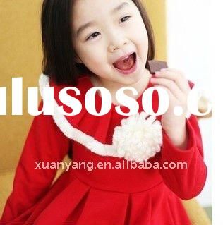 2012 fashion clothes for children,christmas party dress