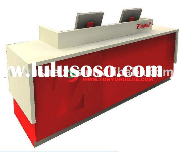 2012 hot-selling long wooden reception counter